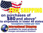 Free Shipping for Lower 48 US States Only! All Other - additional shipping charges are applied